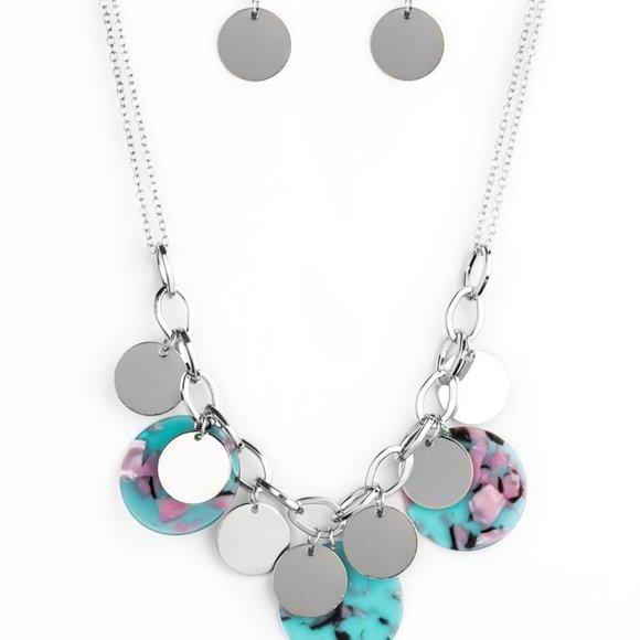 Confetti Confection Blue Necklace